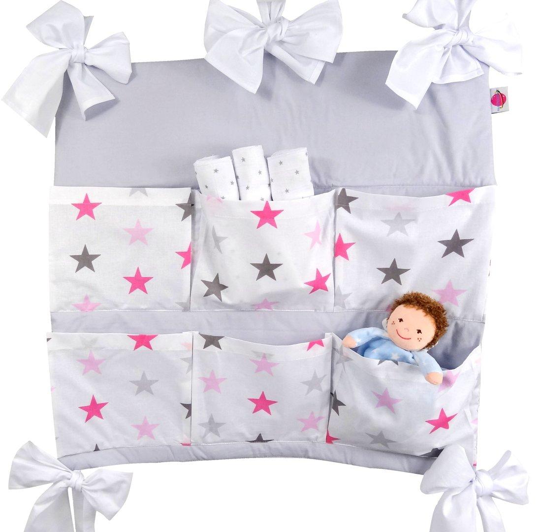 babymajawelt betttasche big stars 60x60cm f r kinderbett rosa. Black Bedroom Furniture Sets. Home Design Ideas