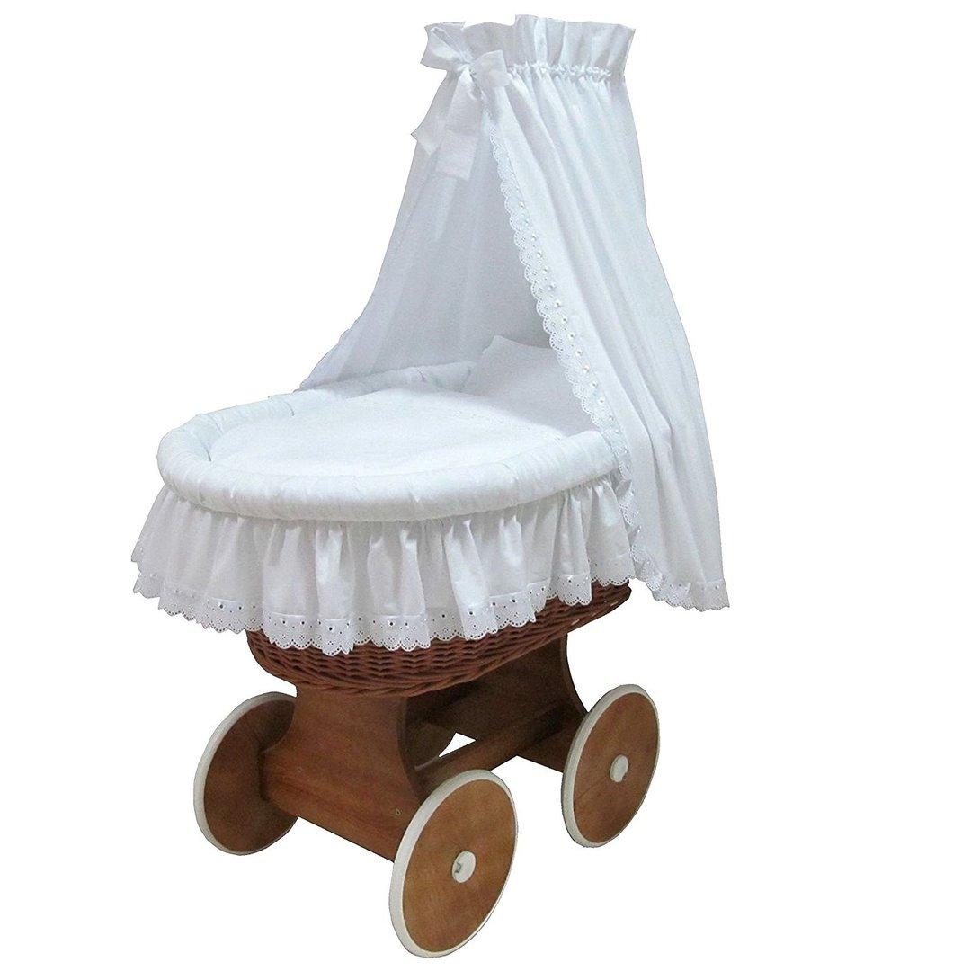 stubenwagen komplett set romantic spitze natur 168. Black Bedroom Furniture Sets. Home Design Ideas