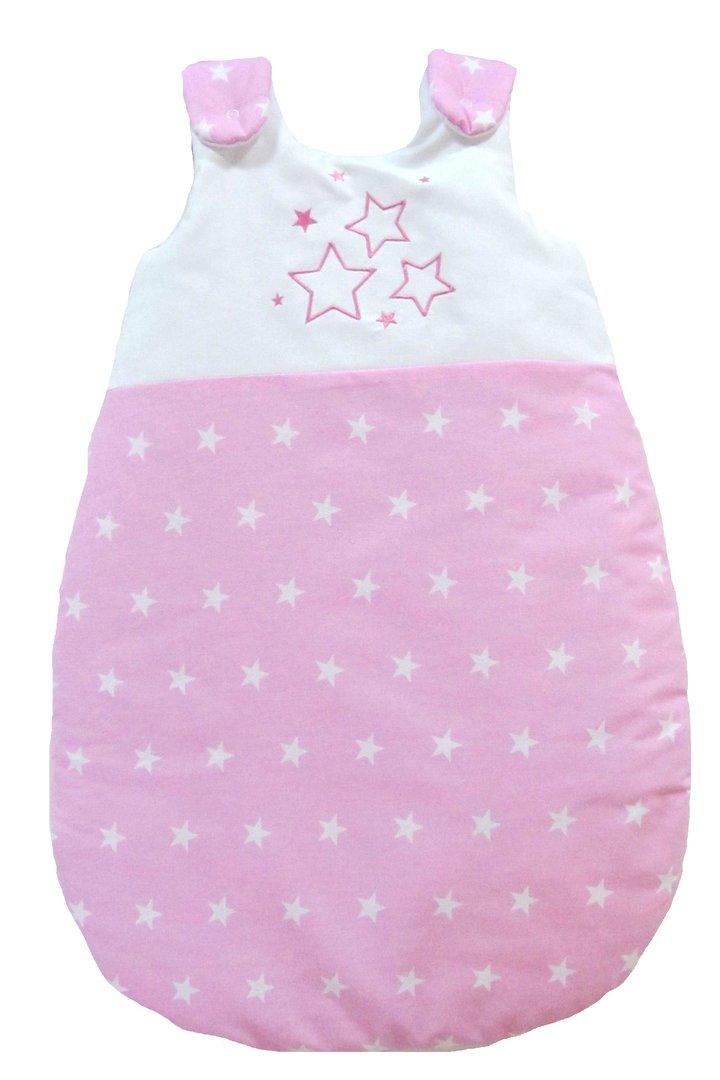 babymajawelt babyschlafsack kuschelschlafsack stars rosa ganzjahres schlafsack f r baby in. Black Bedroom Furniture Sets. Home Design Ideas