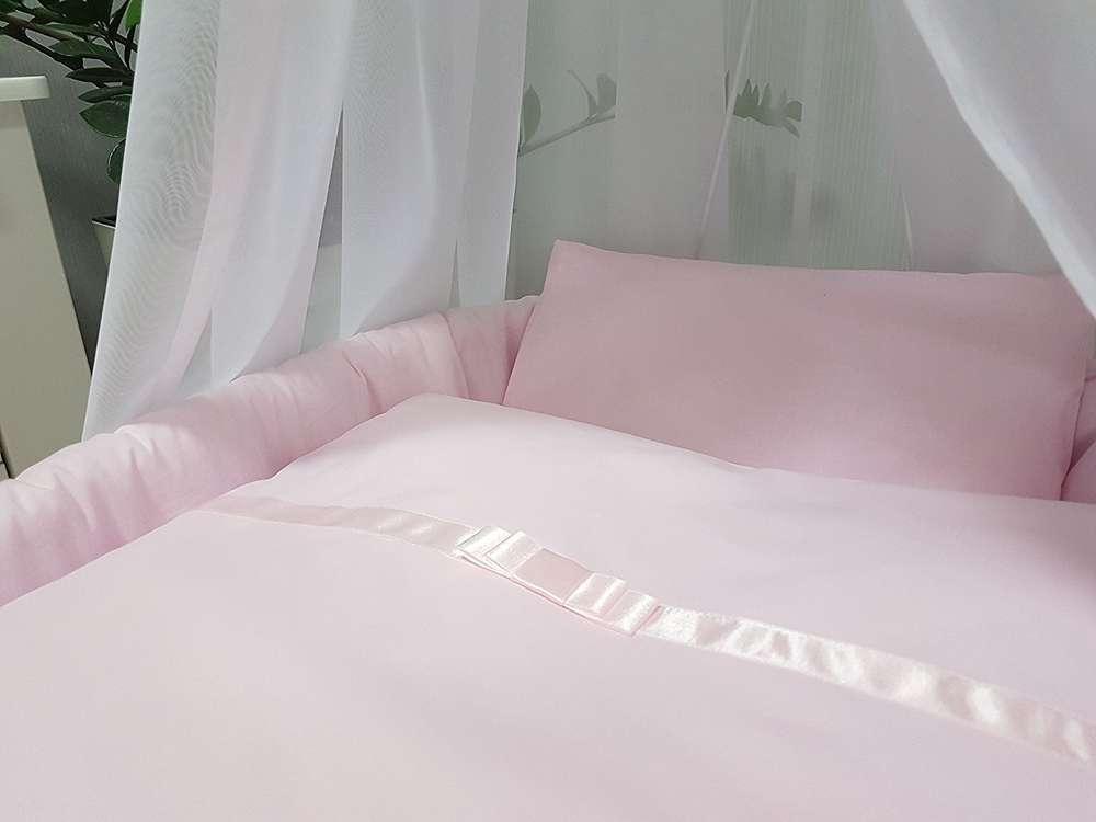 Baby bettwäsche natura 2tlg. für stubenwagen wiege rosa 70x80