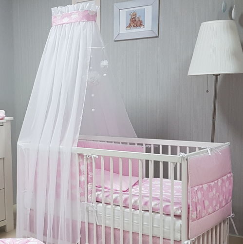 Babymajawelt® Baby Bett Set BiG Dream 5tlg  Bett Set 100x135 VOILE rosa