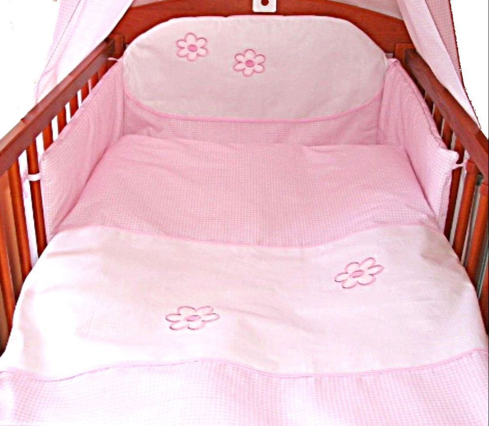 babymajawelt baby bettw sche 2tlg blume rosa 100x135cm 40x60. Black Bedroom Furniture Sets. Home Design Ideas